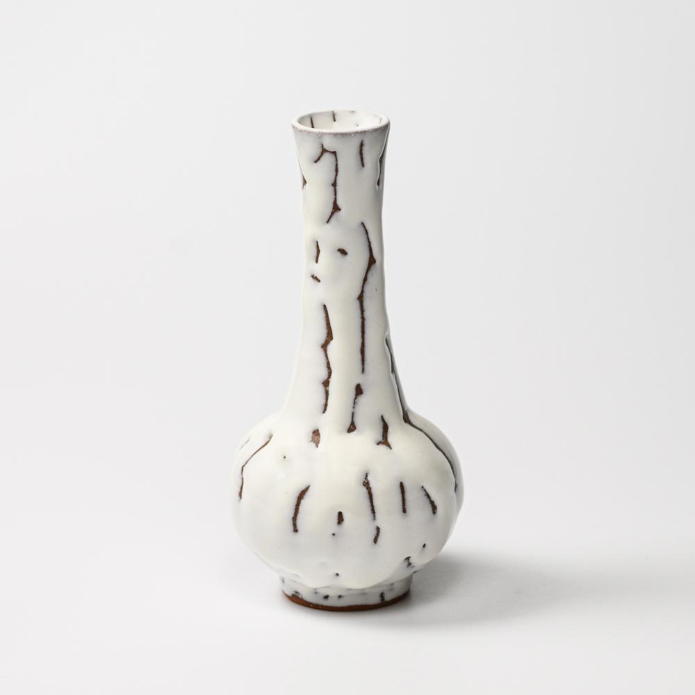 萩焼(伝統的工芸品)花入鬼白松下蕪