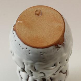 萩焼(伝統的工芸品)花入鬼白松瓢箪