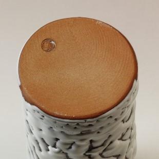 萩焼(伝統的工芸品)花入鬼白松砧