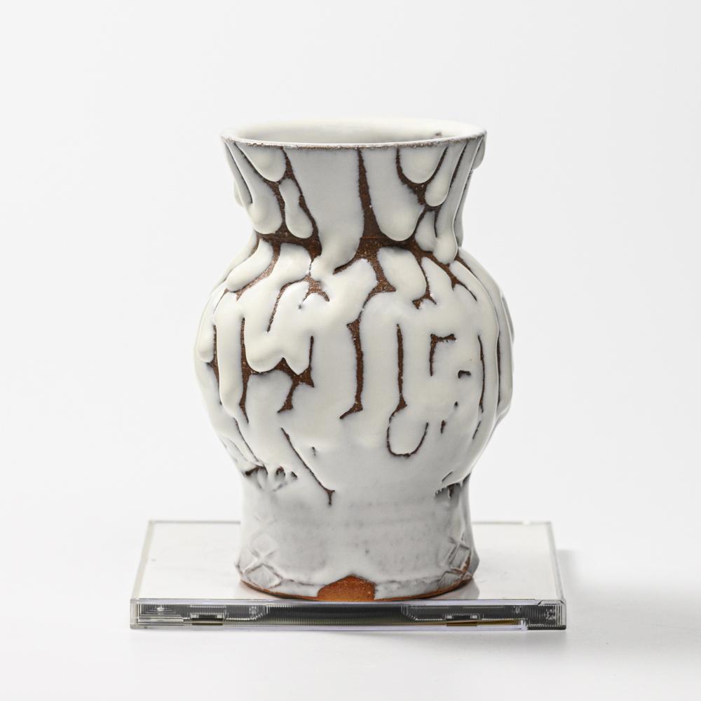 萩焼(伝統的工芸品)花入小鬼白松中蕪