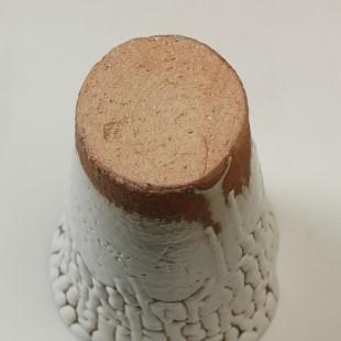 萩焼(伝統的工芸品)花入小鬼白松円錐形三つ葉