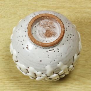 萩焼(伝統的工芸品)ミニ花入鬼白松丸丸