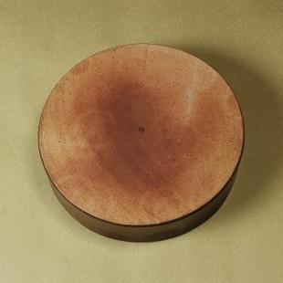 萩焼(伝統的工芸品)水盤鉄釉筒