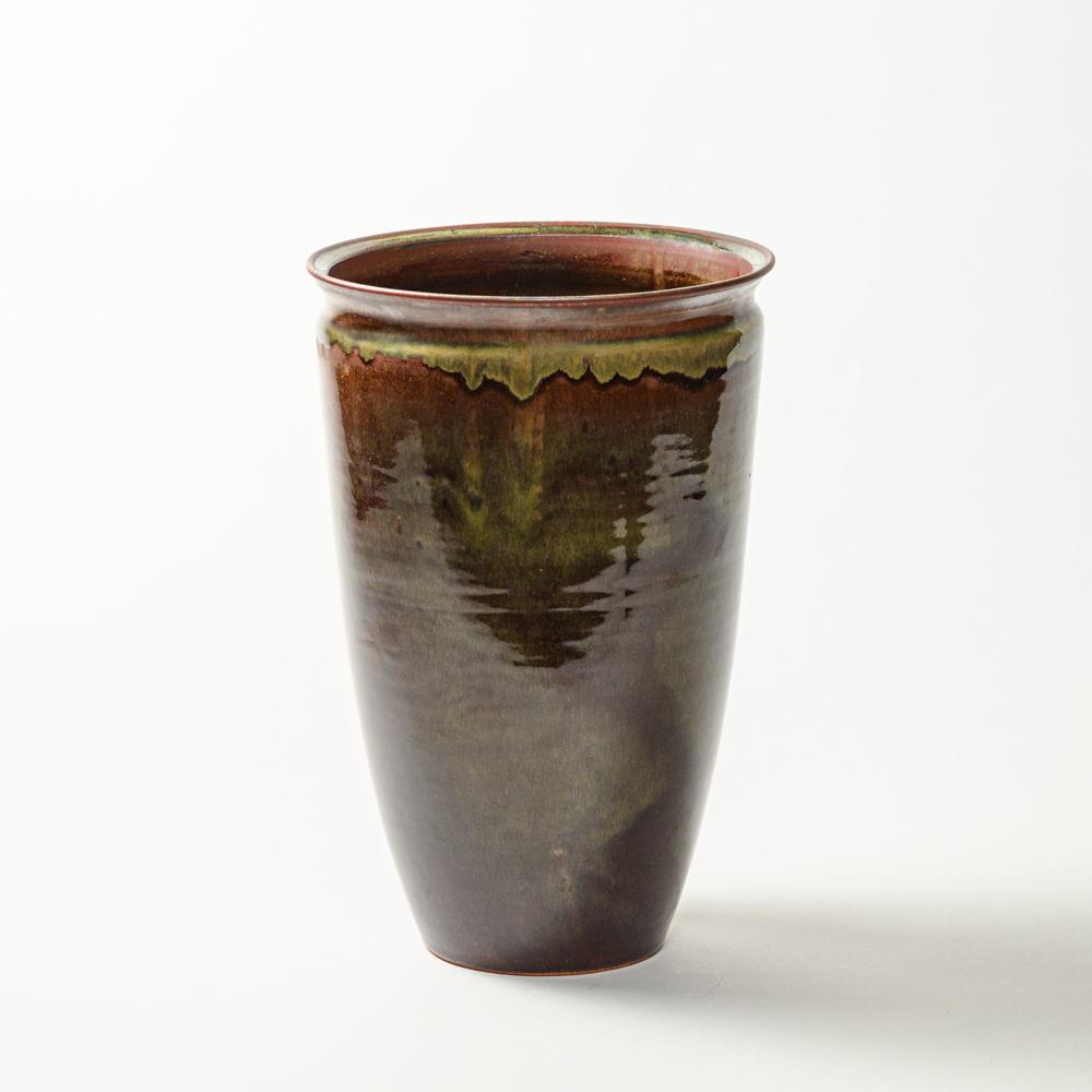 萩焼(伝統的工芸品)花器鉄赤釉呉器肩衝