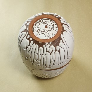 萩焼(伝統的工芸品)壷大鬼白松掛外し瓜形