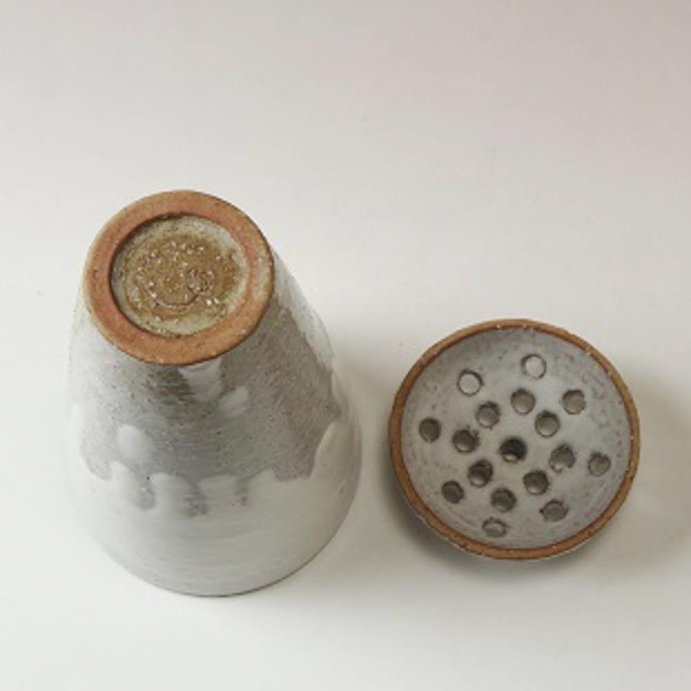 萩焼(伝統的工芸品)壷特大掛分け(鬼白松&黒釉)掛外し丸