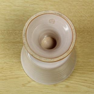 萩焼(伝統的工芸品)フラキャンポット大白姫筒足付き