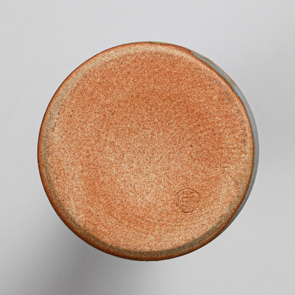 萩焼(伝統的工芸品)花入小細手淡青釉円錐形