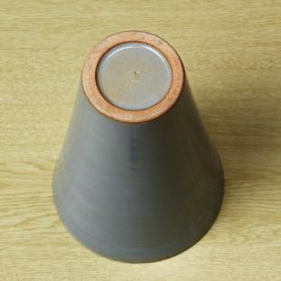萩焼(伝統的工芸品)花入広口淡青釉末広