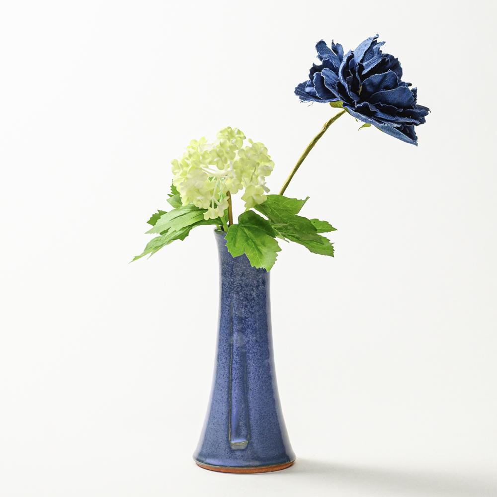 萩焼(伝統的工芸品)花入小細手青釉円錐形