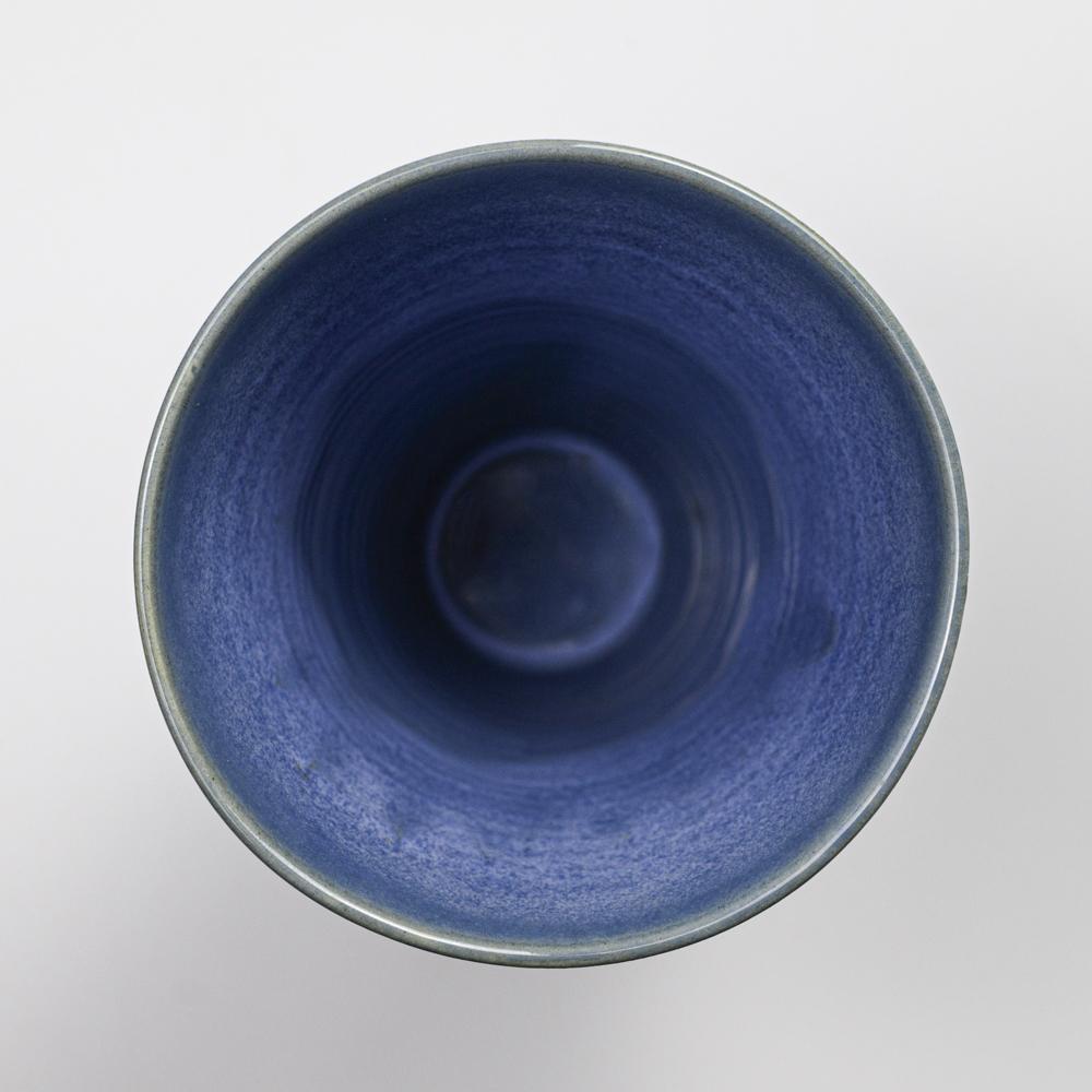 萩焼(伝統的工芸品)花入広口青釉末広