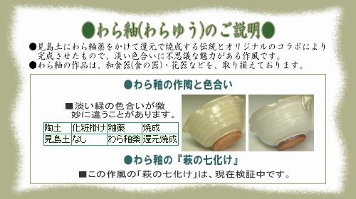樋口大桂の作風・わら釉