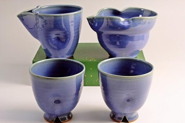 2013年(平成25年)第38回伝統的工芸品公募展-酒器青釉