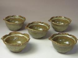 2006年(平成18年)第31回伝統的工芸品公募展-組鉢緑星釉木の葉