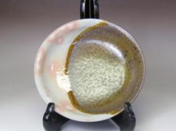 2007年(平成19年)第32回伝統的工芸品公募展-平鉢掛分け御本手鉄釉丸