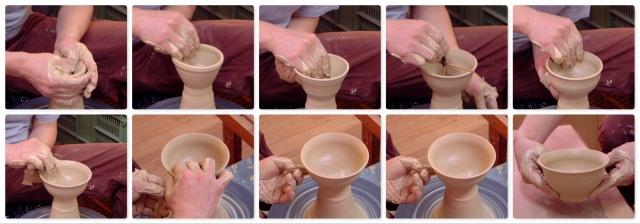 「萩焼が出来るまで」水挽き-飯碗