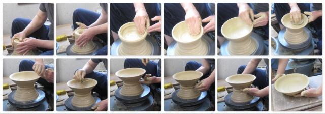 「萩焼が出来るまで」水挽き-平鉢
