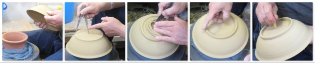 「萩焼が出来るまで」削り-平鉢