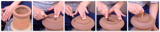 「萩焼が出来るまで」削り-平皿