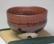 第32回山口伝統工芸展・樋口大桂《鉄赤釉茶碗》