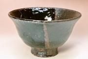 第39回山口伝統工芸展・樋口大桂【黒釉掛分茶盌】