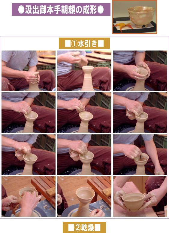 樋口大桂の作陶-汲出し湯呑1