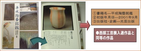 樋口大桂掲載書籍・平成陶藝銘鑑